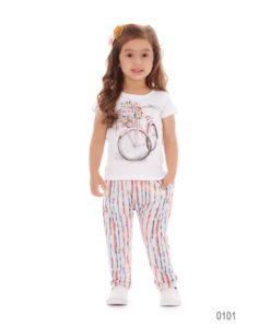 Conjunto Blusa e Calça em Malha_Up Baby_Megakids