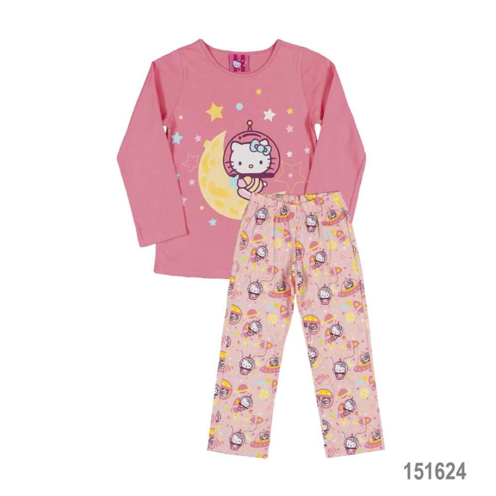 Pijama com Blusa e Calça em Meia Malha Hello Kitty Megakids e2a024d377bd0