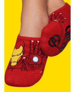 Meia Sapatilha Iron Man  Kids Com Solado Antiderrapante-Puket-MegaKIDS