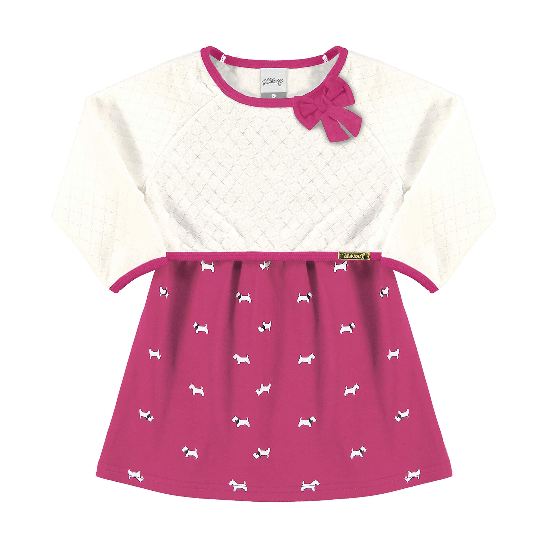 1cb750d841 Vestido Em Cotton E Matelasse Rosa Cherry-Alakazoo-MegaKIDS